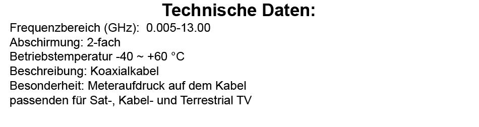SKY 10m SAT Koaxialkabel DIGITAL BK Antennenkabel Koaxkabel DVB-T2 HD TV 4K HD