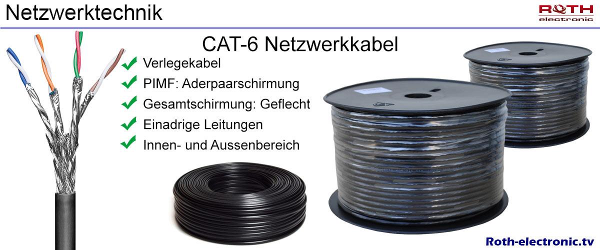 20m cat 6 netzwerk verlegekabel outdoor solid lan gigabit. Black Bedroom Furniture Sets. Home Design Ideas