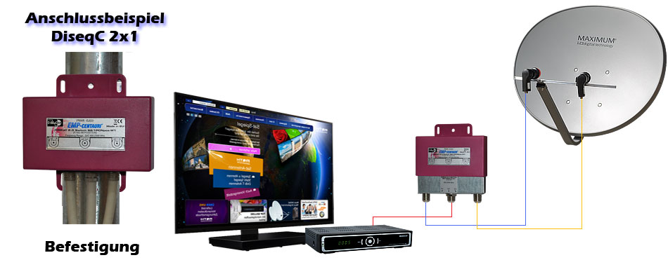 diseqc schalter 2 1 emp centauri profi class 2 sat an 1 receiver mit f stecker ebay. Black Bedroom Furniture Sets. Home Design Ideas