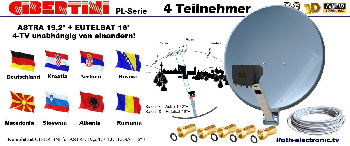 4 teilnehmer sat anlage astra eutelsat 16 serbisch - Probleme satellite astra 2017 ...