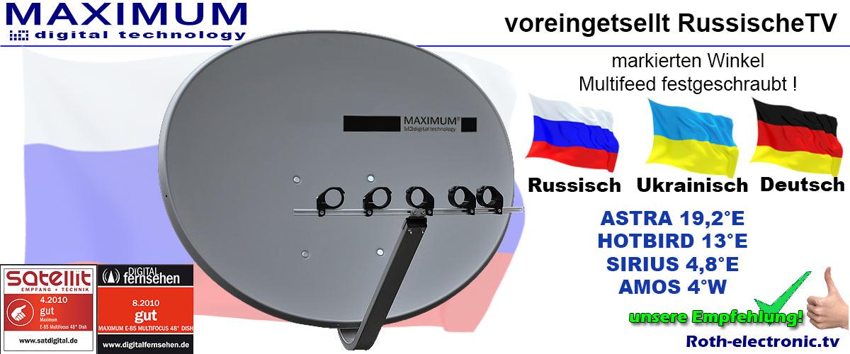 Russische Tv Voreingestellt Maximum E 85 Sat Spiegel Astra Hotbird